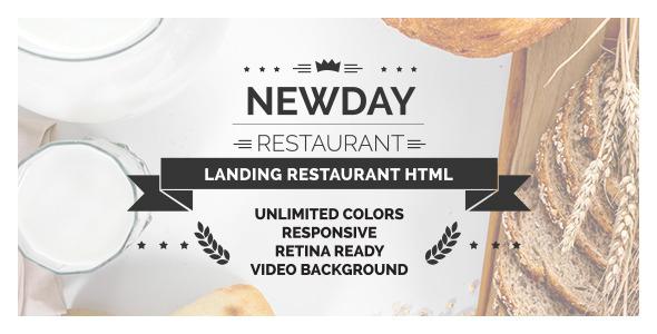 New Day - Responsive Landing Restaurant HTML            TFx