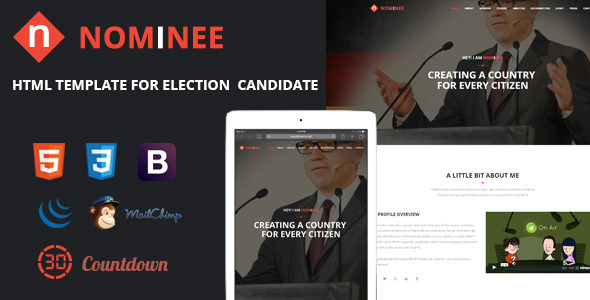Nominee - Template for Candidate/Political Leader            TFx