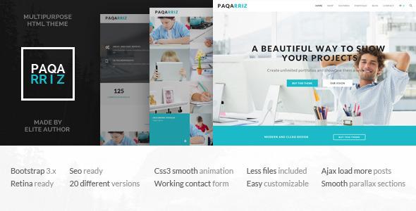 Paqarriz - Multipurpose HTML5 Template            TFx