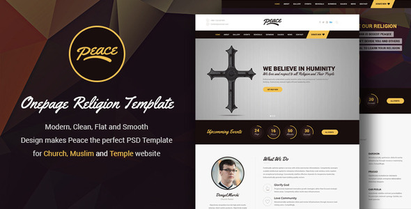 Peace - Church / Mosque / Temple PSD Template            TFx