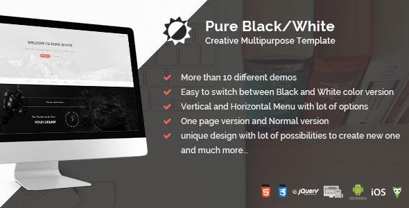 Pure Black/White - Creative Multipurpose Template            TFx