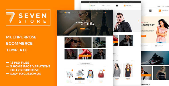 Seven Store - Ecommerce HTML  Template            TFx