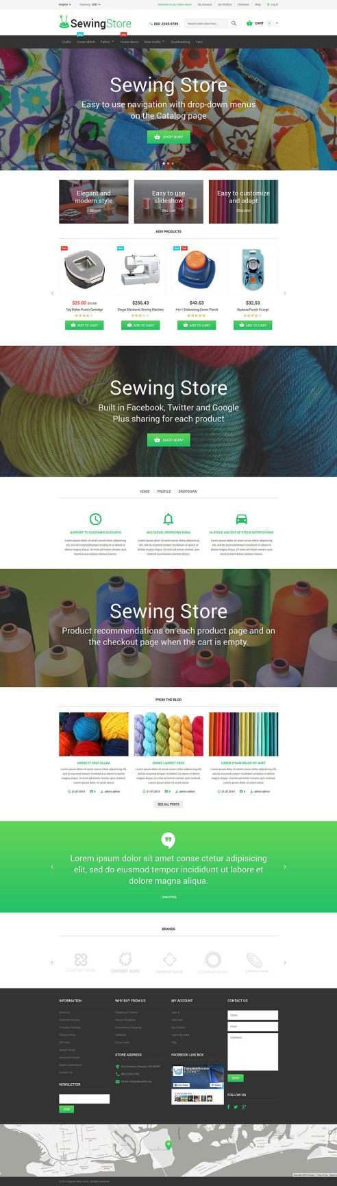 Sewing Store Magento Theme TMT