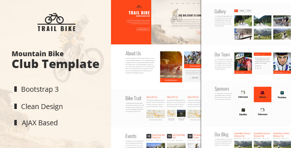 Trail Bike - Mountain Biking Club Template            TFx