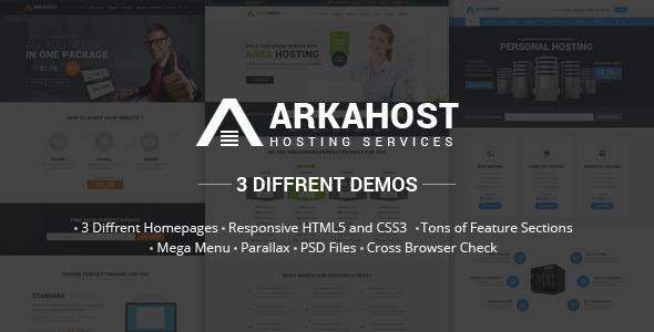Arka Host - Responsive Hosting Template             TFx