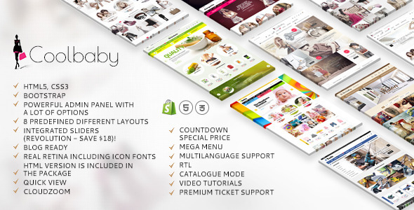 Coolbaby - Shopify responsive original theme            TFx
