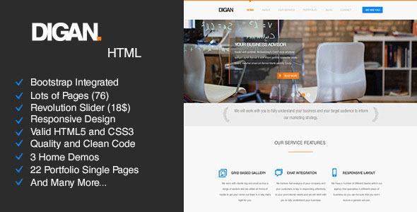Digan - Multi-Purpose HTML Business Template            TFx