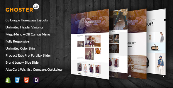 Ghoster - Multipurpose Responsive Shopify Theme            TFx