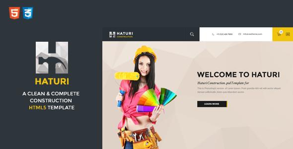 Haturi | Construction Business HTML5 Template             TFx