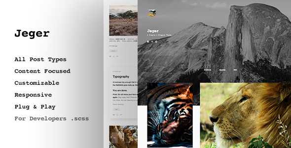 Jeger, Premium Tumblr Theme - Grid based            TFx