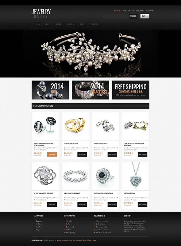 Jewelry OsCommerce Template TMT
