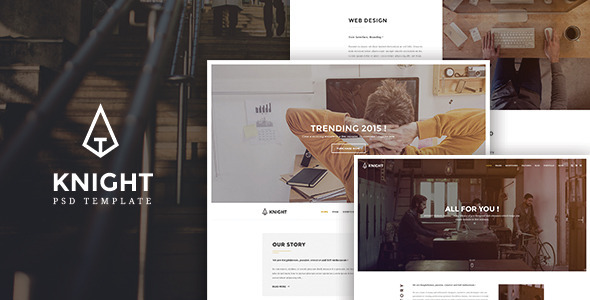 Knight - Corporate and Shop PSD Template            TFx