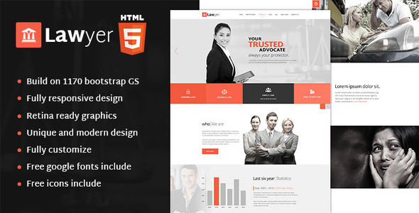 Lawyer - HTML Template            TFx