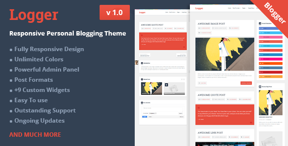 Logger - Responsive Personal Blogging Theme            TFx