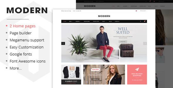 Modern - Responsive Magento Fashion Theme            TFx