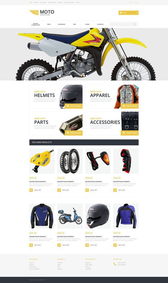Motor Sports OsCommerce Template TMT