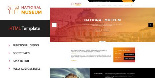 Museum - Premium HTML Template            TFx