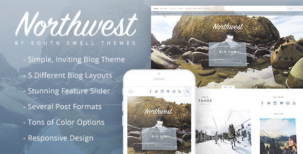 NorthWest - A Simple Blog HTML Template            TFx