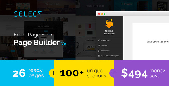 Select - Email Templates Set with FoxesBuilder v.2            TFx