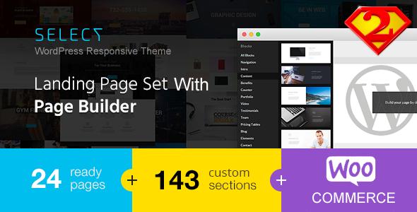Select - Responsive Landing Page WordPress Theme            TFx