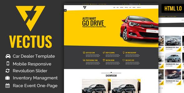 VECTUS - Car Dealership & Business HTML Template             TFx