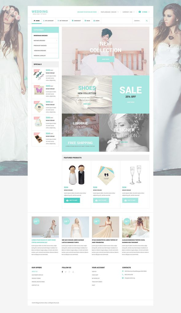 Wedding OsCommerce Template TMT