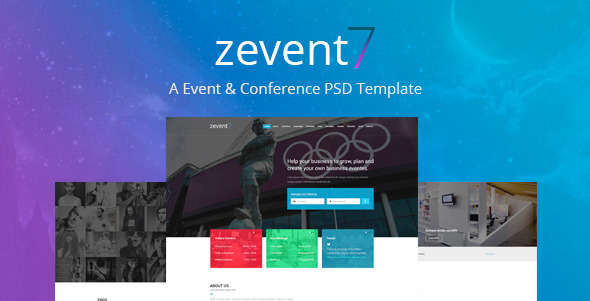 Zevent - Conference & Event PSD Template            TFx