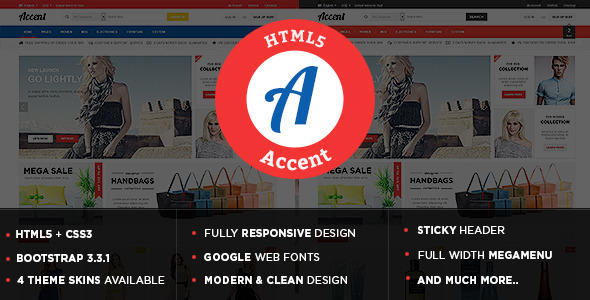 Accent - Responsive Multipurpose HTML5 Template            TFx