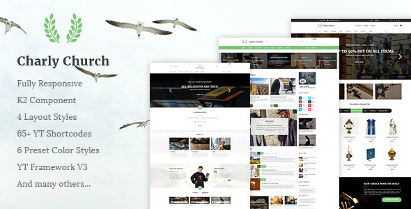 Charly - Responsive Church/Religious Joomla Theme            TFx