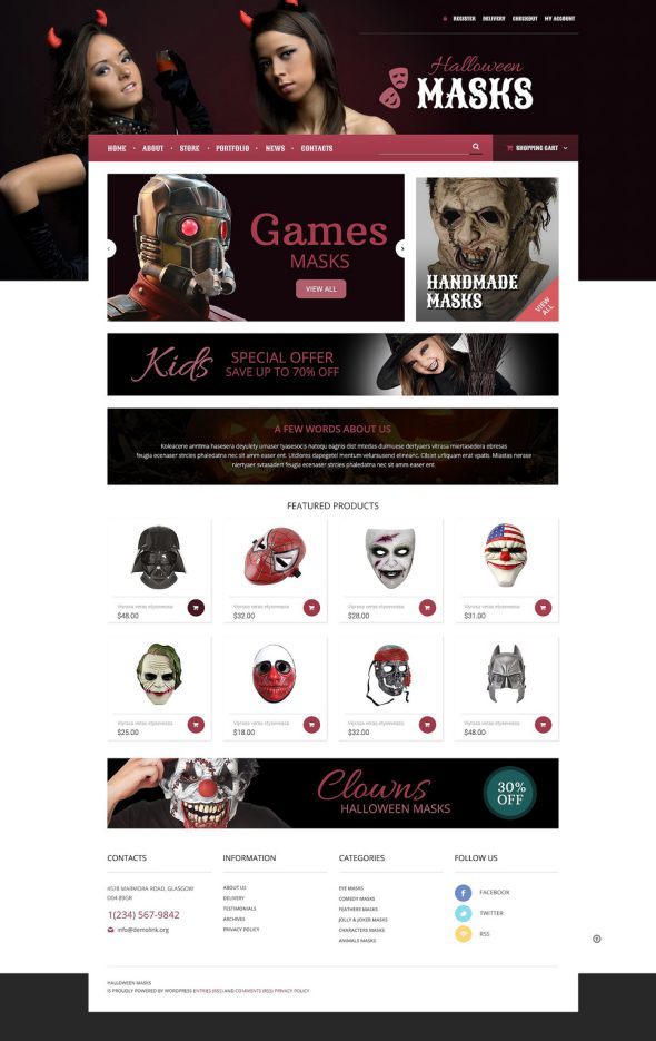 Entertainmnet OsCommerce Template TMT