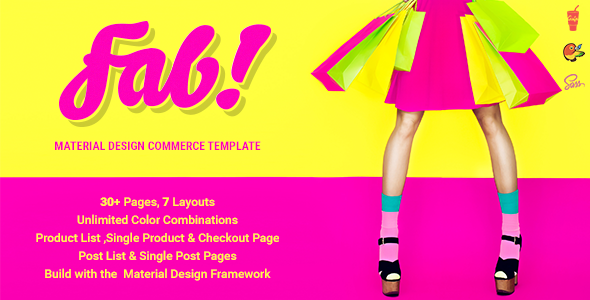 FAB! - Material Design Ecommerce HTML Template            TFx