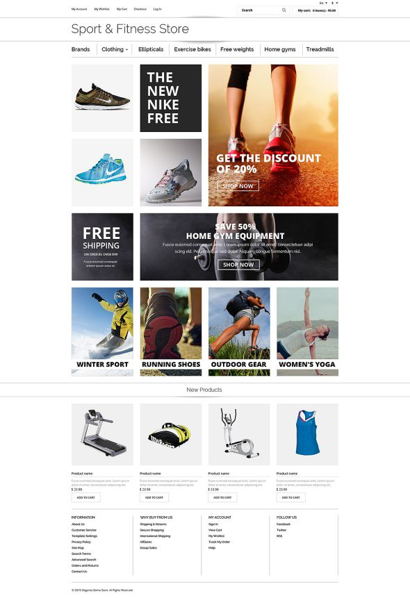 Fitness OsCommerce Template TMT