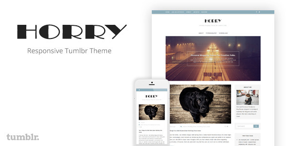 Horry - Responsive Tumblr Theme            TFx