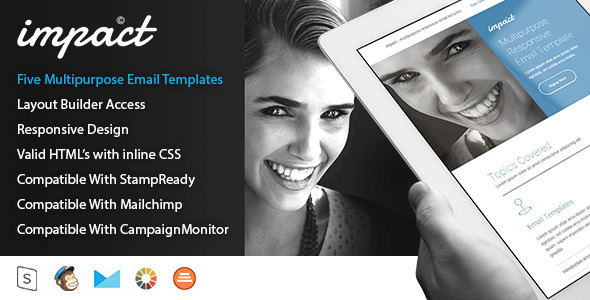 Impact - Five Multi-Purpose Email Templates            TFx