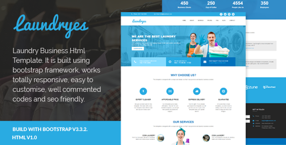 Laundryes - Laundry Business Html Template            TFx