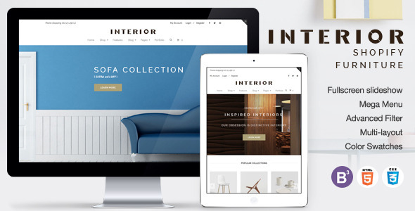 Responsive Minimalist Shopify Theme for Interior            TFx