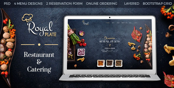 Royal Plate - Restaurant & Catering PSD Template            TFx