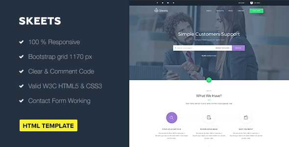 Skeets — Ticket Support HTML Template            TFx