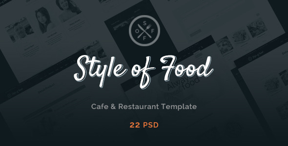 Style of Food - Restaurant & Cafe PSD Template            TFx