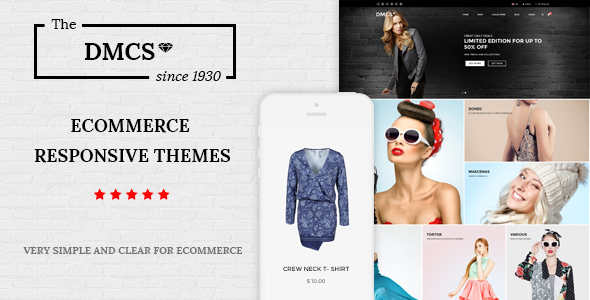 The DMCS - Ecommerce HTML Responsive Template            TFx