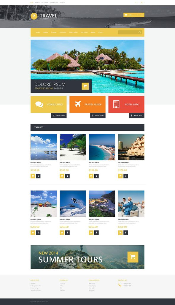 Travel OsCommerce Template TMT
