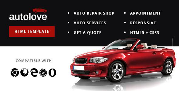 Autolove - Vehicle Repair Mechanic Shop Template            TFx
