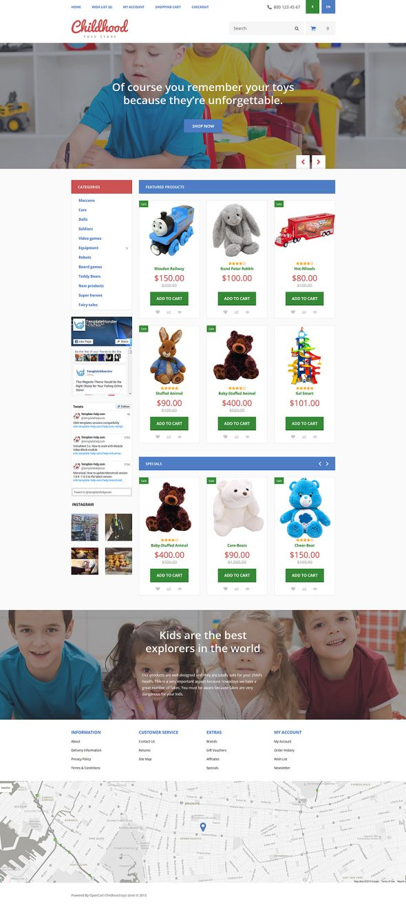 Childhood OpenCart Template TMT