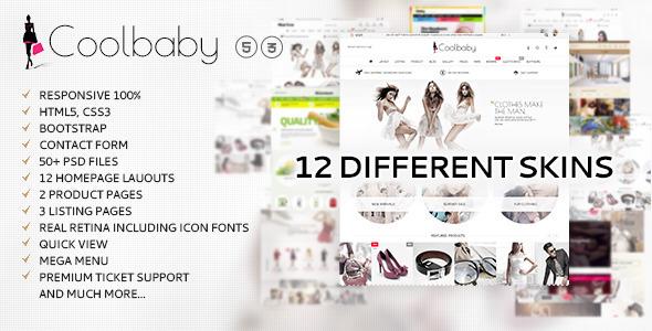 Coolbaby - Fashion eCommerce HTML theme            TFx