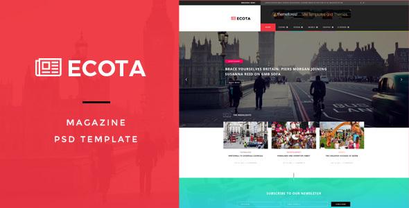 Ecota - Premium Magazine PSD Template            TFx