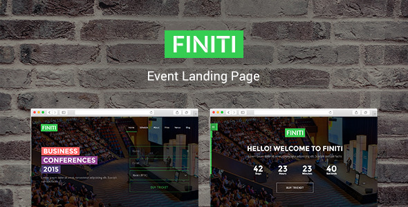 FIniti | Event Landing Page            TFx