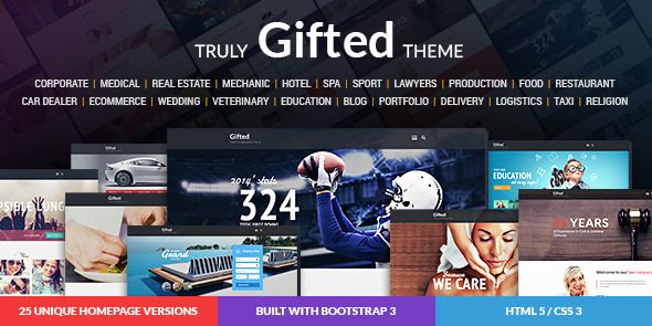 Gifted - Multi-Purpose HTML5 Website Template            TFx