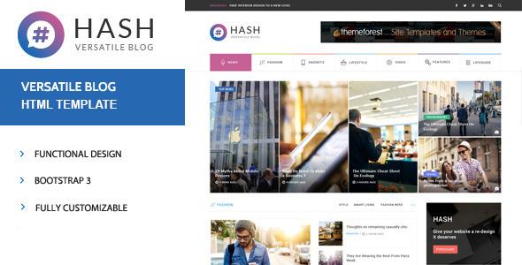 Hash - News & Magazine HTML Template            TFx
