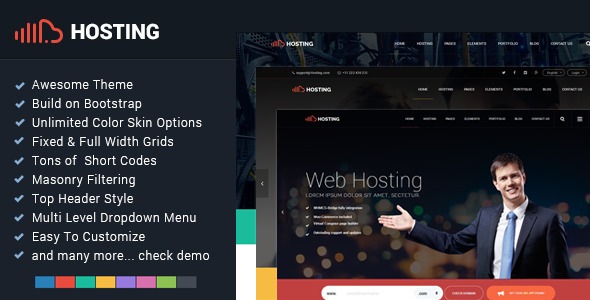 Hosting - Bootstrap Responsive Multi-Purpose HTML5            TFx