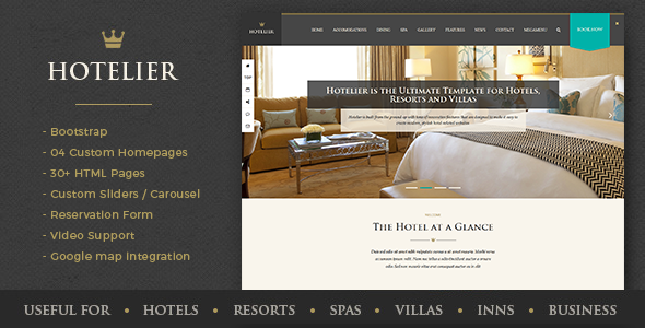 Hotelier - Hotel & Travel Booking HTML Template            TFx